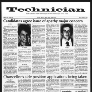 Technician, Vol. 62 No. 74, March 29, 1982