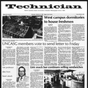 Technician, Vol. 62 No. 8, September 16, 1981
