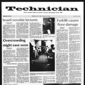 Technician, Vol. 62 No. 80, April 14, 1982