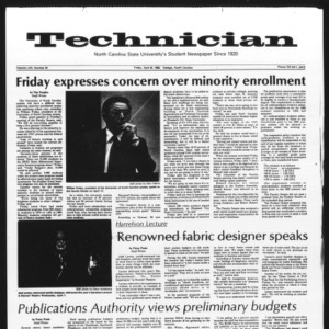 Technician, Vol. 62 No. 81, April 16, 1982