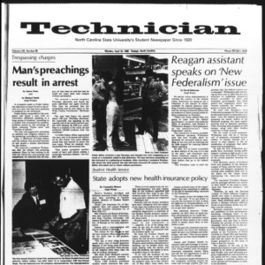 Technician, Vol. 62 No. 82, April 19, 1982