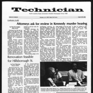 Technician, Vol. 63 No. 93 [Vol. 62 No. 95], July 14, 1982