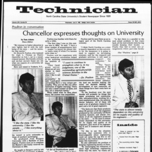 Technician, Vol. 63 No. 94 [Vol. 62 No. 96], July 21, 1982