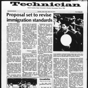 Technician, Vol. 63 No. 96 [Vol. 62 No. 98], August 4, 1982