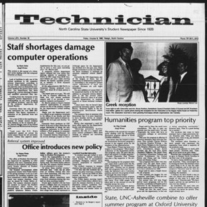 Technician, Vol. 64 No. 18, October 8, 1982