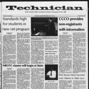 Technician, Vol. 64 No. 22, October 20, 1982