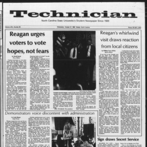 Technician, Vol. 64 No. 25, October 27, 1982