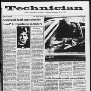 Technician, Vol. 64 No. 32, November 12, 1982
