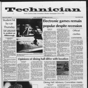 Technician, Vol. 64 No. 33, November 15, 1982