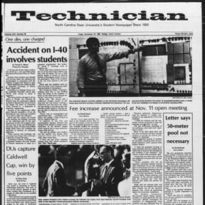 Technician, Vol. 64 No. 35, November 19, 1982