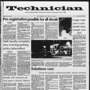 Technician, Vol. 64 No. 4, September 3, 1982