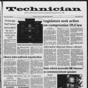 Technician, Vol. 64 No. 60, February 16, 1983