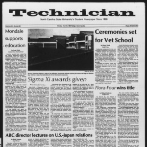 Technician, Vol. 64 No. 82, April 18, 1983