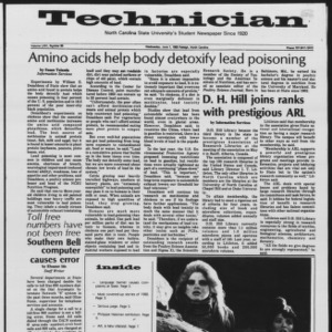 Technician, Vol. 64 No. 89, June 1, 1983