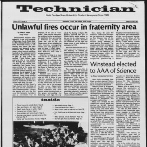 Technician, Vol. 64 No. 91, June 15, 1983