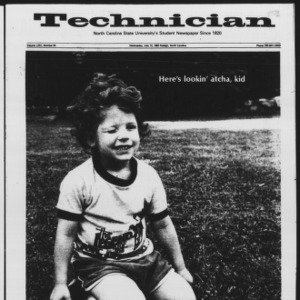 Technician, Vol. 64 No. 94 [Vol. 68 No. 94], July 13, 1987