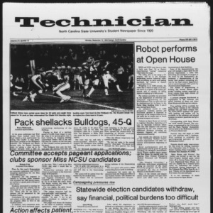 Technician, Vol. 65 No. 10, September 19, 1983