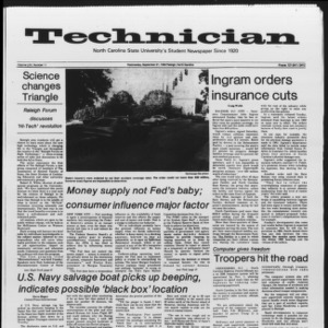 Technician, Vol. 65 No. 11, September 21, 1983