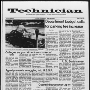 Technician, Vol. 65 No. 34, November 16, 1983