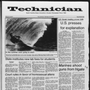 Technician, Vol. 65 No. 6, September 9, 1983