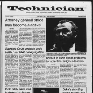 Technician, Vol. 65 No. 64, February 24, 1984