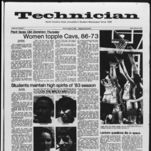 Technician, Vol. 65 No. 71, March 19, 1984