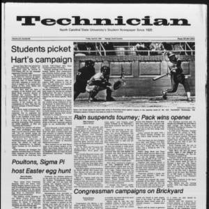 Technician, Vol. 65 No. 85, April 20, 1984