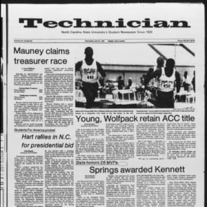 Technician, Vol. 65 No. 85 [86], April 25, 1984