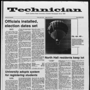 Technician, Vol. 65 No. 86 [87], April 27, 1984