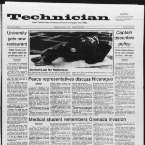 Technician, Vol. 66 No. 28, October 31, 1984