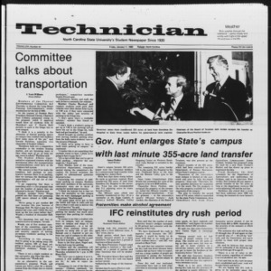 Technician, Vol. 66 No. 44 [45], January 11, 1985