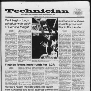 Technician, Vol. 66 No. 47, January 16, 1985