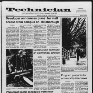 Technician, Vol. 66 No. 52 [53], January 30, 1985
