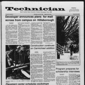 Technician, Vol. 66 No. 52 [53], January 30, 1985
