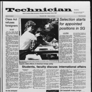 Technician, Vol. 66 No. 77, April 5, 1985