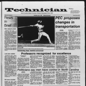 Technician, Vol. 66 No. 78, April 10, 1985