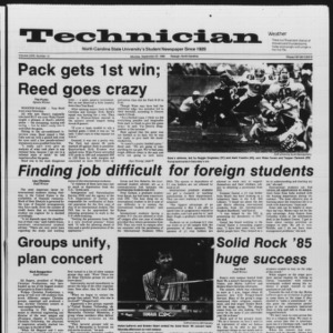 Technician, Vol. 67 No. 12, September 23, 1985