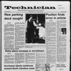 Technician, Vol. 67 No. 14, September 27, 1985