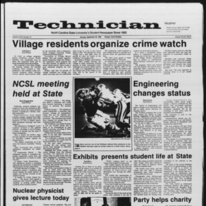 Technician, Vol. 67 No. 15, September 30, 1985