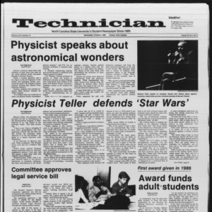 Technician, Vol. 67 No. 16, October 2, 1985