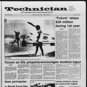 Technician, Vol. 67 No. 21, October 16, 1985