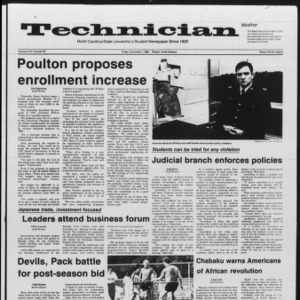Technician, Vol. 67 No. 28, November 1, 1985