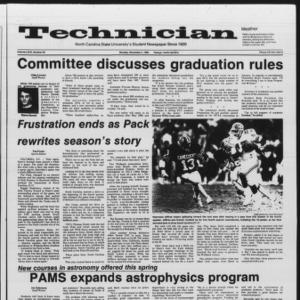 Technician, Vol. 67 No. 29, November 4, 1985