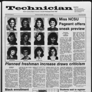 Technician, Vol. 67 No. 30, November 6, 1985