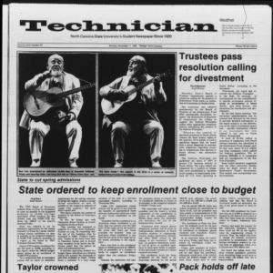 Technician, Vol. 67 No. 32, November 11, 1985