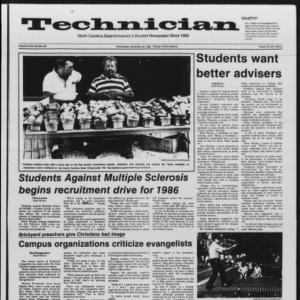 Technician, Vol. 67 No. 36, November 20, 1985
