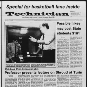 Technician, Vol. 67 No. 38, November 25, 1985
