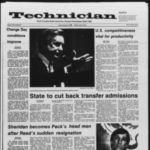 Technician, Vol. 67 No. 43 [42], January 10, 1986