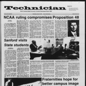 Technician, Vol. 67 No. 45 [44], January 15, 1986