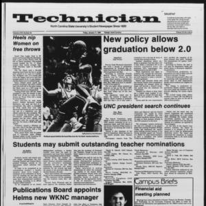Technician, Vol. 67 No. 46 [45], January 17, 1986